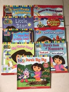 17 pcs Dora books series $2 ea