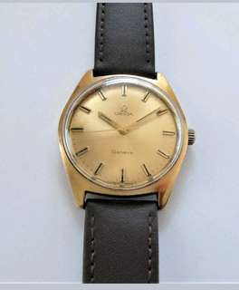 1968/69 GOLD CAPPED OMEGA GENEVE 17 JEWELLED CAL 601