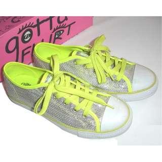 74% OFF Gotta Flurt Lime Sequin Sneakers (US 7) Original 1,965php