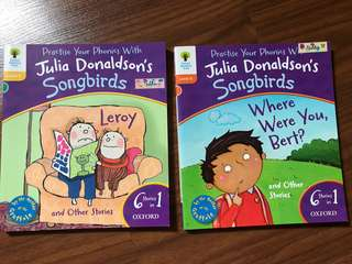 Julia Donaldson's Song Birds Phonics Books (set of 2 books)