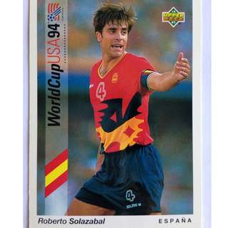 Roberto Solazabal (Spain) - Soccer Football Card #192 - 1993 Upper Deck World Cup USA '94 Preview Contenders
