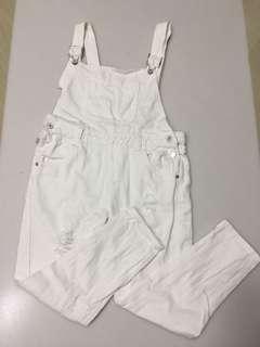 Distressed white jumper