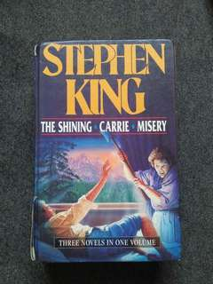 The Shining, Carrie & Misery By Stephen King.