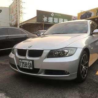 2007年BMW E90 320i 頂級天窗 女用車實跑9萬