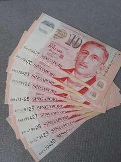 S$10 new note 10 runs