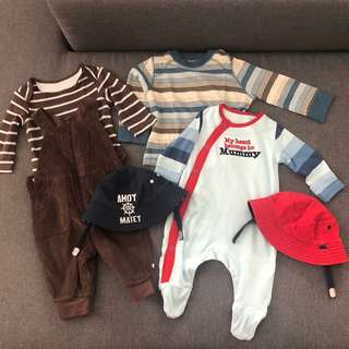 Preloved Mothercare for boys 0-6months