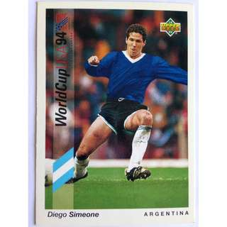 Diego Simeone (Argentina) - Soccer Football Card #191 - 1993 Upper Deck World Cup USA '94 Preview Contenders