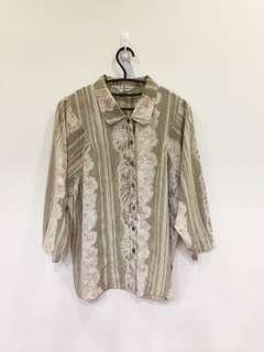🚚 古著 - 氣質花襯衫