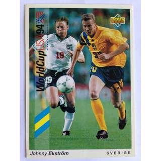 Johnny Ekstrom (Sweden) - Soccer Football Card #190 - 1993 Upper Deck World Cup USA '94 Preview Contenders
