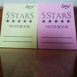 15% off!! Small Notebooks