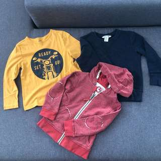 Preloved jacket and tops for boys 2-4y/o