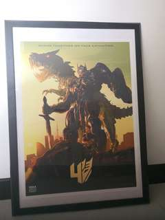 Transformer iMAX Limited Edition poster in frame
