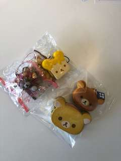 Licensed rilakkuma squishy set
