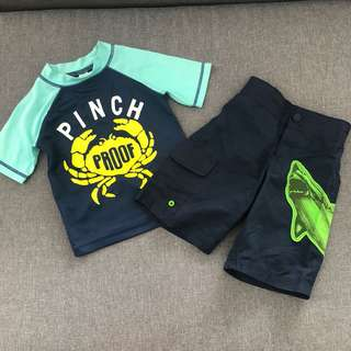 Preloved swimwear for boys 2-3y/o