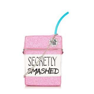 英國潮牌SKINNYDIP粉紅閃亮利樂包斜背包/特價850帶回家/限量最後10個/英國代購/粉紅/閃亮/派對