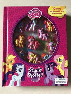 My Little Pony story book with suction ponies