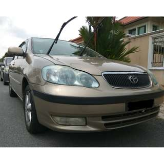 Toyota Altis 2003 (A) (single gentle driver)