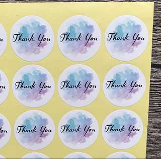 (Free Postage) 80 Thank You Stickers