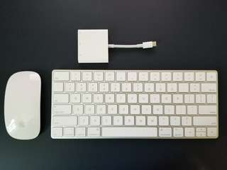 Apple Magic Keyboard, Magic Mouse 2 & USB-C 轉換器
