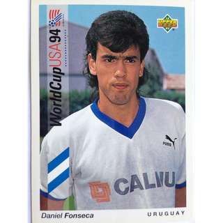 Daniel Fonseca (Uruguay) - Soccer Football Card #182 - 1993 Upper Deck World Cup USA '94 Preview Contenders