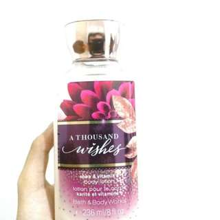 Bath & body works lotion - a thousand wishes