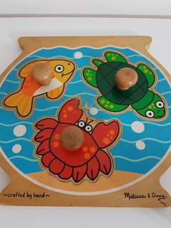 Melissa&Doug Jumbo Knob Fish Bowl Puzzles