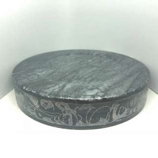 Vintage Marble Ashtray W Ancient Designs
