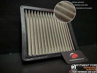 AIR FILTER drop in proton WIRA INJECTION STAINLESS STEEL