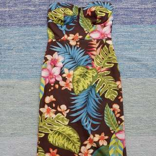 Floral Tube Bodycon Dress