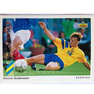 Kennet Andersson (Sweden) - Soccer Football Card #178 - 1993 Upper Deck World Cup USA '94 Preview Contenders