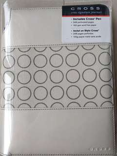 Cross Signature Journals (Medium Dots Ivory)