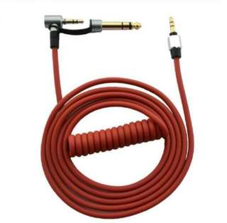 Black/ Red replacement cable for Beats Pro/ detox/ solo 3.5mm to 3.5/6.5mm Male to Male headsets