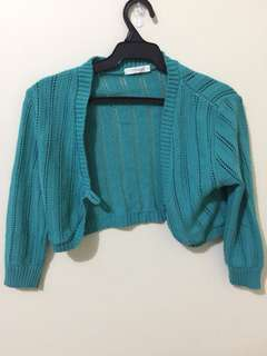 Topshop green knitted bolero