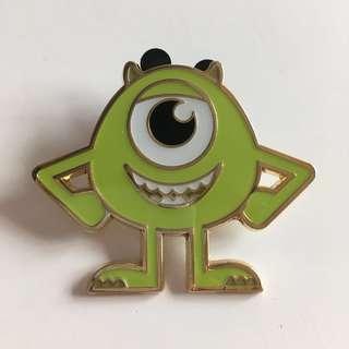 Mike 大眼仔米高 迪士尼徽章 pin