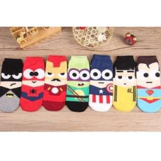 Iconic Superhero Cartoon Socks for Men