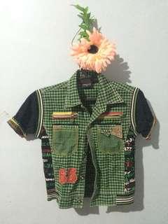 Green Checkered polo shirt