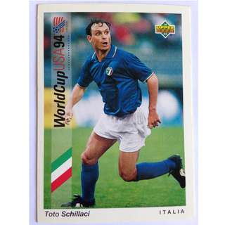 Toto Schillaci (Italy) - Soccer Football Card #174 - 1993 Upper Deck World Cup USA '94 Preview Contenders