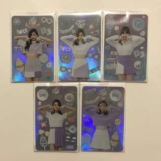 Twice Coaster Lane 1 專輯 小卡 閃卡 Tzu Yu 子瑜 Na Yeon 娜璉 Mina Ji Hyo 志效 Chae Young 彩瑛