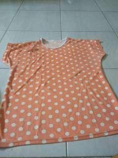 Orange shirt top