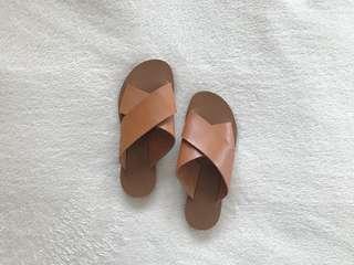 Brown Slip on Sandals