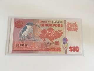Bird series $10 Singapore