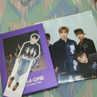 WTS WANNA ONE Nothing Without You album and standee with To Be One poster