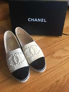 全新Chanel珠珠鞋38號