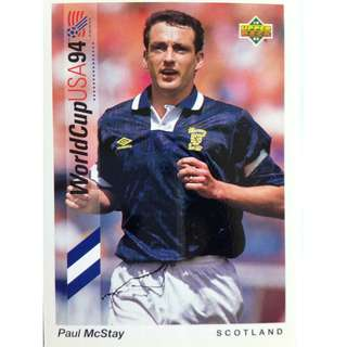 Paul McStay (Scotland) - Soccer Football Card #170 - 1993 Upper Deck World Cup USA '94 Preview Contenders
