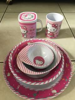 Hellokitty set makan