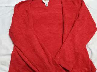 Bright Red Knitted Cardigan