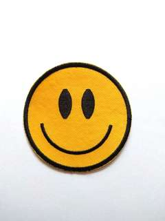Smiley Face Peace Iron On Patch