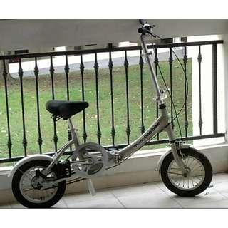 Foldable Bike Bicycle Silver Monotine