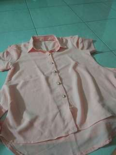Pink Shirt chiffon premium