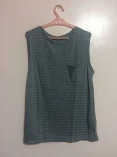Uni Qlo Gray Sleeveless Top
